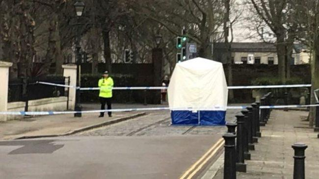 Police said the newborn was found in the street shortly after 0615 GMT