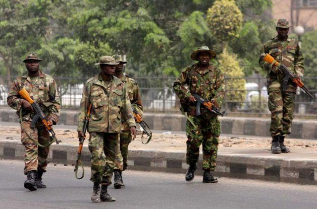 Nigerian Army on the streets of Abuja