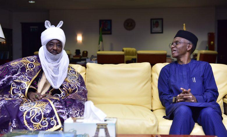 El-Rufai hosts former Kano emir Sanusi