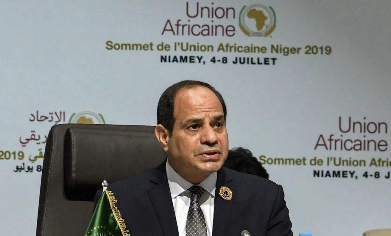 Egyptian President and African Union (AU) chairman Abdel Fattah Al-Sisi
