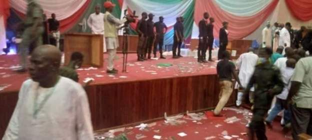 Photos of PDP North-West zonal congress disrupted in Kaduna