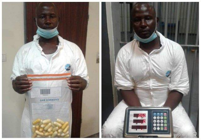 Drug trafficker excretes 97 wraps of cocaine after arrest at Lagos airport
