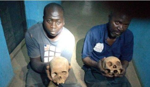 Police arrest two with human skulls at Kaduna cemetery