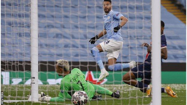 Mahrez double sends Man City into first Champions League final