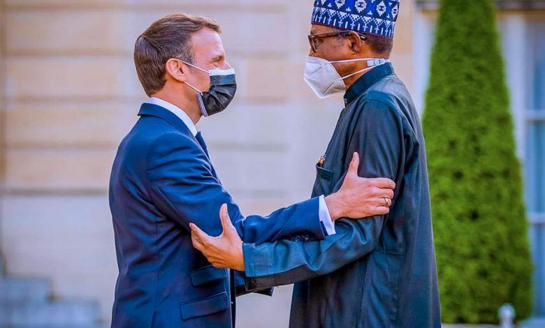 Macron receives Buhari in Paris (photos)
