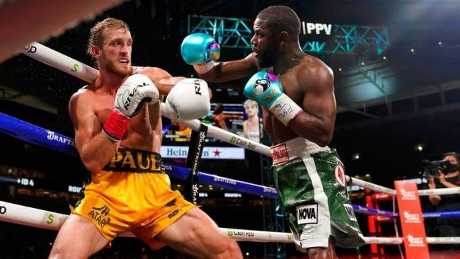 Logan Paul avoids knockout from Floyd Mayweather in extraordinary exhibition