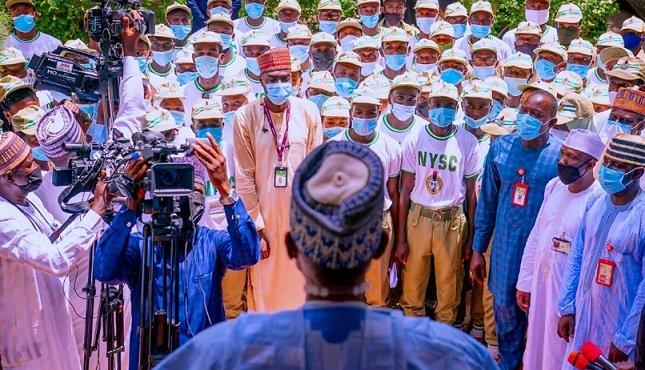 NYSC broadens the horizon of citizens, Buhari says as he hosts corps members