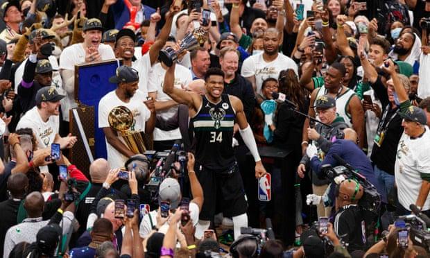 Antetokounmpo scores 50 as Milwaukee Bucks win first NBA title in 50 years